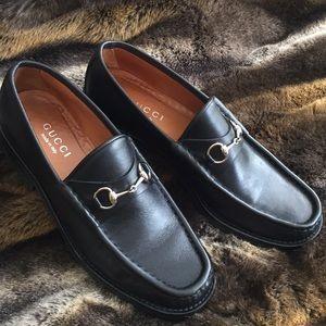 Gucci Leather Horsebit Loafer Sz 9